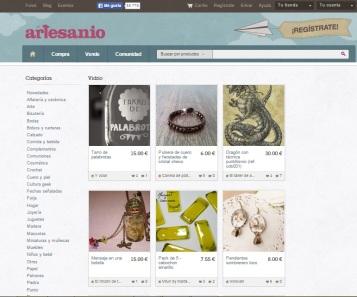 tiendas online de artesanias